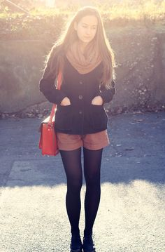shorts and tights. Yup, sounds like a winter in Florida.