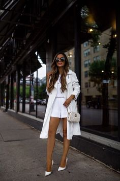 White Outfits, Trendy Outfits, Cool Outfits, Fashion Outfits, Fashion Clothes, Beautiful Outfits, White Romper, White Dress, Christian Louboutin So Kate