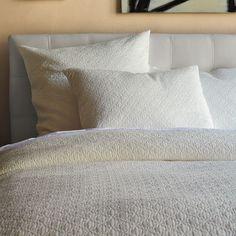 Matelasse West Elm Duvet, Organic Duvet Covers, White Bedding, Grey Duvet, Bedding Sets, Guest Bed, Cotton Bedding, Home Staging, Master Bedroom