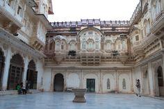 Courtyard of Jodhpur Fort, India