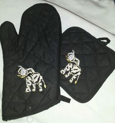Elephant Oven Mitt Set Mitt & Pot Holder Delta Sigma Theta University Alabama