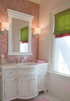 Fotos de banheiros com pastilhas rosa