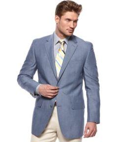 Michael Kors Jacket, Solid Linen Blazer - Mens Blazers & Sport ...