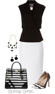 75 Black & White Work Outfits For Lady To Copy Now