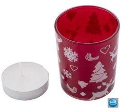 Ein wunderbares Werbemittel für weihnachtliche Stimmung ist dieses schöne Teelicht aus Glas, zusammen mit einer Kerze und einem Polybeutel mit Schleife erhältlich. Ihre Werbung wird durch einen Aufkleber auf dem Teelicht angebracht und ist eine süße Geschenkidee für Ihre Kunden!
