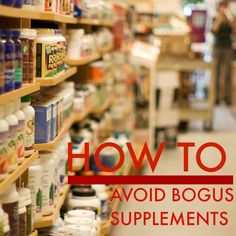 Never fall for fraudulent supplements again.