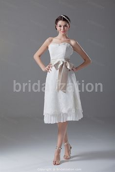 www.BridalIzation.com/Beautiful-Ivory-Zipper-back-Bow-Bea...    more..  @ http://fashioncentris.com