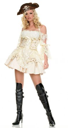 Pirate Captainu0027s Mistress Costume by Leg Avenue - Pirate wenches and swashbuckling captains sexy pirate  sc 1 st  Pinterest & Velvet u0026 Satin Pirate Wench by Leg Avenue - Pirate wenches and ...