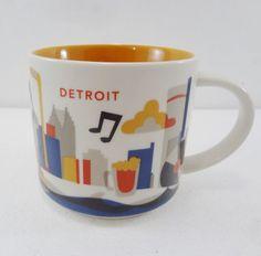 HAVE - Starbucks Detroit You Are Here YAH Coffee Tea Cocoa Mug Cup 14 oz  #Starbucks