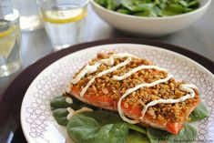 Everything Bagel-Crusted Salmon with Creamy Chive Sauce – all of the elements of an everything bagel with cream cheese and lox, in an entree. | foxeslovelemons.com