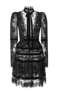 Velvet Long Sleeve Dress by ELIE SAAB for Preorder on Moda Operandi