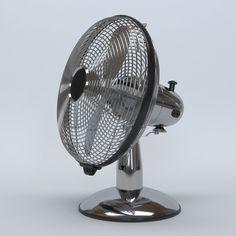 Antique Metal Table Fan In 3d Model