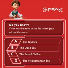 Do you know which sea Jesus was on when He calmed the storm? Post you answer below! Trivia Questions For Kids, Bible Questions, This Or That Questions, Kids Sites, Bible Quiz, Book Of Genesis, Bible Games, Bible Trivia, Bible Illustrations