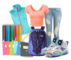 """Back To School With Color!"" by pookie-swagga on Polyvore"
