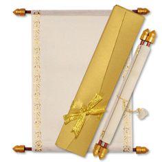 Cream Gold Scroll Invitation with Ribbon Box Scroll Wedding Invitations, Scroll Invitation, Ribbon Box, Cream And Gold, Are You Happy