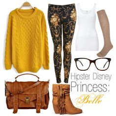 """Hipster Disney Princess: Belle"" by tiainwonderland on Polyvore"