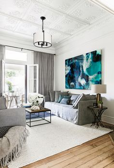 """The third bedroom is currently set up as another retreat space, anchored by a Hyam rug that is part of Darren's range for [Carpet Court](https://www.carpetcourt.com.au/?utm_campaign=supplier/
