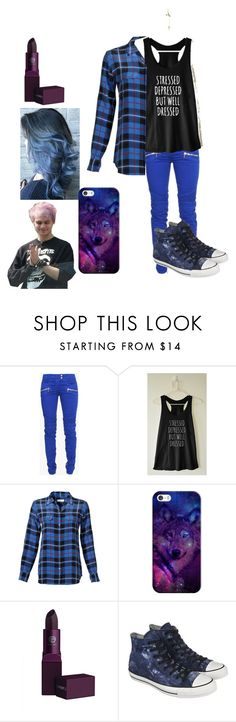 """Chilling with Michael"" by little5sosfanatic ❤ liked on Polyvore featuring Balmain, Equipment, Casetify, Lipstick Queen and Converse"