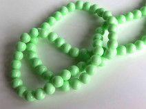 20 Perle di vetro  verde chiaro 8mm