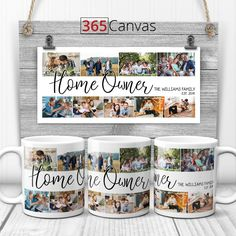 Make their celebration more memorable by giving them this heartwarming personalized gift. Nothing like a collection of unforgettable moments captured in a collage to make any occasion special! This unique collage mug will put a smile on your loved one's face every time they see or use this present.  #mug #custom #personalized #collage #photo #gifts #dad #family #home #owner Personalized Gifts For Dad, Custom Canvas Prints, Canvas Home, Dad Birthday, Memorable Gifts, Custom Photo, House Warming, Ideal Home, Celebration