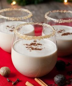 Guy Fieri's Jack Nog (eggnog with honey whiskey and butterscotch schnapps): this is SOOOOO good!!!