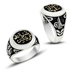 Beelogold - 925K Sterling Silver İslamic Men Ring