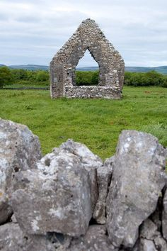 Kilmacduagh Monastery is found 5 km from the town of Gort in County Galway, Ireland.