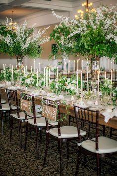 Greenery wedding reception decorations - Clane Gessel Photography | Elegant wedding table | Rustic wedding tablescape | #weddings #weddinginspiration #weddingideas #greenery #rustic #rusticwedding #weddingdecorations #bridal