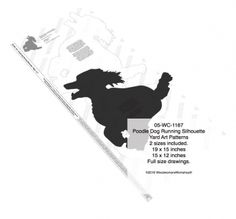 05-WC-1167 - Poodle Dog Running Yard Art Woodworking Pattern - 2 sizes included