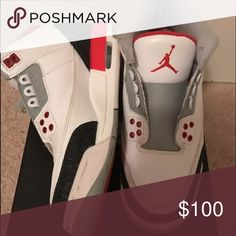 100% Authentic Retro Jordan 3 (2013) Fire Red 6.5Y 100% Authentic Air Jordan 3 Retro 'Fire Red' Boys Size 6.5 - (GS 398614 120). Original box and laces included. See photos. If you need more photos let me know! Thank you. Jordan Shoes Sneakers