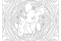 Free printable Pokemon coloring page-Nidorina. Visit our page for more coloring! Coloring fun for all ages, adults and children. Pokemon Coloring Pages, Printable Coloring Pages, Coloring For Kids, Coloring Pages For Kids, Coloring Books, Coloring Stuff, Mandala Pokémon, Charmeleon Pokemon, Pokemon Printables