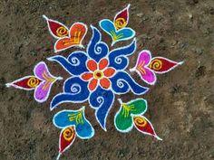 Indian Rangoli Designs, Rangoli Designs Latest, Rangoli Border Designs, Rangoli Patterns, Rangoli Ideas, Rangoli Designs With Dots, Rangoli Designs Images, Kolam Rangoli, Flower Rangoli