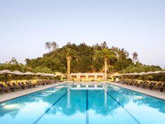 solage calistoga resort pool!