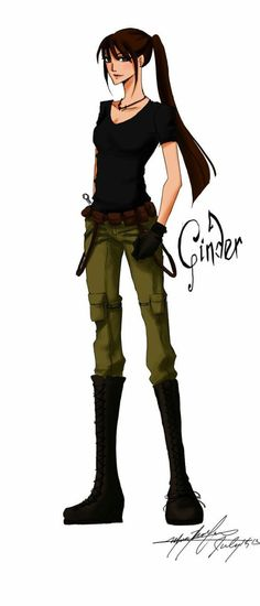 Cinder from the Lunar Chronicles by TheSoulofStories on deviantART>>>I like this except for the fact that it doesn't show her cyborg leg. Book Tv, Book Nerd, Ya Books, Good Books, Kaito, Gone Michael Grant, Lunar Chronicles Cinder, Scarlet Lunar Chronicles, Gone Series