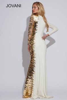 Floor length fitted gown