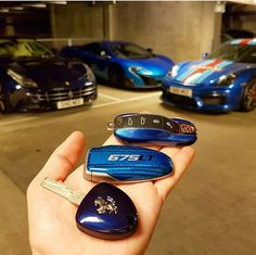 Special shoutout to for the magical Le Mans Blue Ferrari key that completes my nerdy collection. Mclaren Cars, Bmw Cars, Ferrari Ff, New Model Car, Rich Cars, Lykan Hypersport, Car Keys, Expensive Cars, Car Wallpapers