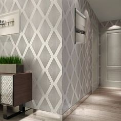 best wallpapers for living rooms Hallway Wallpaper, Home Wallpaper, Grey Wallpaper, Wallpaper Designs, Drawing Room Interior, Inspired Homes, Bedroom Decor, New Homes, House Design