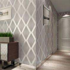 best wallpapers for living rooms Metallic Wallpaper, Grey Wallpaper, Home Wallpaper, Textured Wallpaper, Wallpaper Designs, Papier Paint, Hallway Wallpaper, Drawing Room Interior, Office Interiors