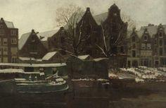 [ B ] George Hendrik Breitner - Amsterdam in Winter (c.1888)   Flickr - Photo Sharing!