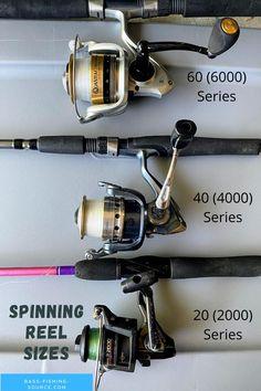Spinning reel sizes Best Fishing Reels, Bass Fishing Tips, Fishing Life, Fishing Stuff, Spinning Reels, Fishing Equipment, Fish Art, Accessories, Gone Fishing