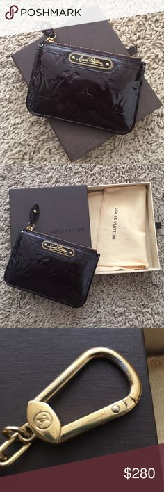 Louis Vuitton Vernis cles in amarante Authentic, 9.5/10 excellent used condition slight tarnish on the key ring (see picture) but fully functional, comes with box and dust bag, date code SN2163, made in France piece. Louis Vuitton Bags Clutches & Wristlets
