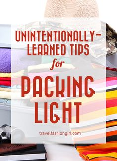 Do you have any random packing tips you discovered unintentionally? Here are six of mine!