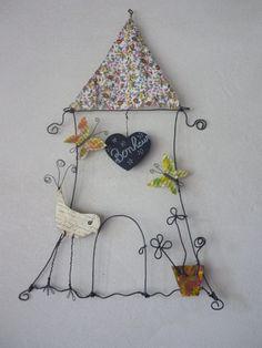 La maison du bonheur (2) - Création en fil de fer & papier ancien  : Accessoires de maison par l-atelier-d-isabelle