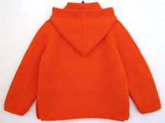 Hand knit baby sweater 100% cotton sweater hooded cardigan