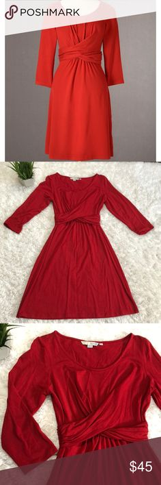 Boden jersey long sleeve dress Great easy to wear casual dress with a put together look. Long sleeve thin but not sheer jersey fabric Boden Dresses Long Sleeve