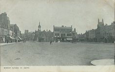 View looking east across St Neots Market Square in 1903