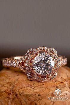 Verragio Engagement Rings, Dream Engagement Rings, Rose Gold Engagement Ring, Vintage Engagement Rings, Vintage Rings, Colored Engagement Rings, Vintage Rose Gold, Vintage Diamond, Gold Gold