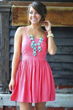 Feeling Fabulous Dress: Deep Coral | Hope's