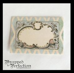 Trifold Stationery with Seals / 10 Notecards / Gift Card / Green / Vintage…