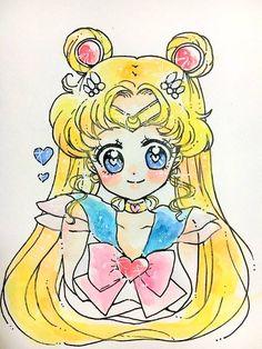 "moonlightsdreaming: "" Sailor Moon // by うら "" Sailor Jupiter, Sailor Venus, Sailor Mars, Arte Sailor Moon, Sailor Moon Usagi, Sailor Neptune, Tuxedo Mask, Sailor Mercury, Old Anime"